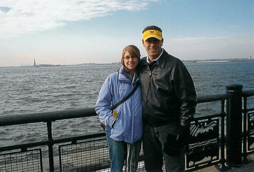 Jenelle & Corey in Battery Park.