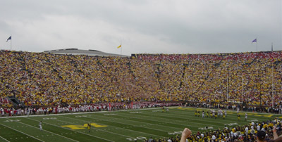The wave at Michigan Stadium.