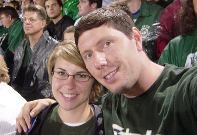 Jenelle and Corey at Spartan Stadium.