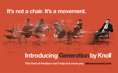 Generation by Knoll (TM) fake ad