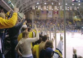 Crowd at Yost, as seen by Zachary Emig in 2002.